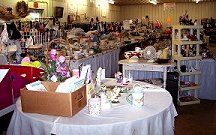 Long aisles of gently used goods.