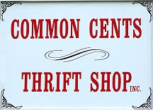 The new Common Cents sign.